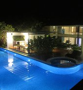 Outdoor Pool lighting control by home automation system
